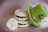 Macaroons, Hat and Flower Photographic Print by Laetitia Julien