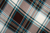Elegant and Refined Scottish Plaid Blue and Brown Photographic Print by Laetitia Julien