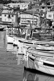 Boats in a Small Harbor Black and White Photographic Print by Laetitia Julien