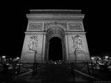 The Arc de Triomphe View from Champs-Elysees Photographic Print by  Cazeba