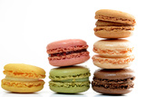 Columns of Pastel Colored Macaroons Photographic Print by Laetitia Julien