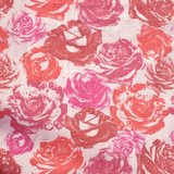 Vintage Pink Floral Fabric Squared Photographic Print by Laetitia Julien
