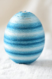 Easter Egg Craft Streaked Blue Cotton Photographic Print by Laetitia Julien