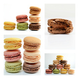 Photomontage Pastel Macaroons Photographic Print by Laetitia Julien