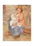 Maternity (Child at the Breast) Reproduction procédé giclée par Pierre-Auguste Renoir