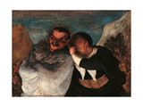 Crispin and Scapin Giclee Print by Honoré Daumier