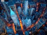Luchtbeeld van Wall Street Posters van Cameron Davidson