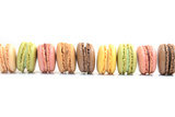 Line Macaroons Pastels on White Background Photographic Print by Laetitia Julien