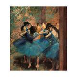 Edgar Degas - Dancers in Blue (Danseuses Bleues) - Giclee Baskı