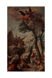 Gathering of the Manna Giclee Print by Giambattista Tiepolo
