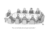"""Yes, we're all white, but we're post-racial white."" - New Yorker Cartoon Premium Giclee Print by Paul Noth"