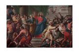 Expulsion of the Moneylenders from the Temple Giclee Print by Lattanzio Querena