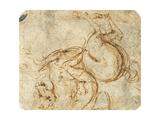 Horse and Horseman Giclee Print
