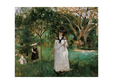 The Butterfly Hunt Giclee Print by Berthe Morisot