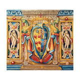 Tapestry with the Medici-Lorena (Lorraine) Coat of Arms Giclee Print by Allori Alessandro