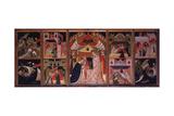 Coronation of the Virgin and the Stories of Saint Nicolò Giclee Print