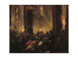 Midnight Mass in Rome Giclee Print