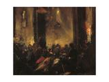 Midnight Mass in Rome Giclee Print