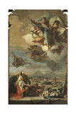 Saint Tecla Pray for the Liberation of Este from the Plague Giclee Print by Giambattista Tiepolo