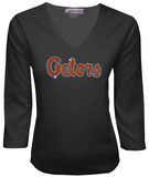 Juniors: Florida Gators V-neck with Crystal Embellished Logo T-shirts