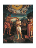 The Baptism of Jesus Christ Giclee Print by Calisto Piazza