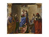 San Zaccaria Altarpiece (Madonna with Child, Sts Peter, Catherine of Alexandria, Lucy, and Jerome) Giclee Print by Giovanni Bellini