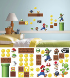 Nintendo - Super Mario Build a Scene Wall Decal Kalkomania ścienna