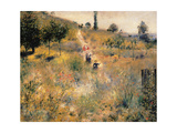 Pathway Through Tall Grass Giclee Print by Pierre-Auguste Renoir