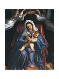 Madonna with Child and Saints Stephen Giclee Print by Lorenzo Lotto