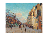 Sidewalk, Snow Effect, Paris Giclee Print by Jean-Baptiste-Armand Guillaumin