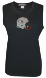 Juniors: Tank Top - Nebraska Cornhuskers - Crystal Embellished Logo T-Shirt