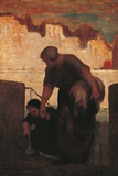 The Laundress Giclee Print by Honoré Daumier