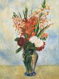 Flowers in a Vase Gladioluses Giclee Print by Pierre-Auguste Renoir