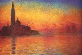 Monet Dusk Venice アートポスター : クロード・モネ