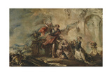 The Marriage of Tobias (Episode of the Tobias Cycle) Giclee Print by Giovanni Antonio Guardi
