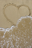 Heart in the Sand Cleared by the Wavelet Photographic Print by Laetitia Julien