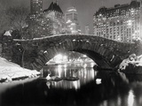 Teich in New York im Winter Poster von  Bettmann
