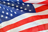American Flag Crumpled and Creased Photographic Print by Laetitia Julien