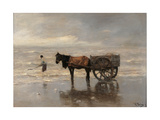 The Cart on the Beach Giclee Print