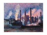 Steelworks Near Charleroi Giclee Print