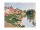 Andelys Gicléetryck av Paul Signac