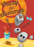 Frozen - Olaf Crazy For Summer Magnet Magnet