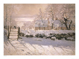 The Magpie, 1869 Plakater av Claude Monet