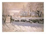 Die Elster, 1869 Poster von Claude Monet