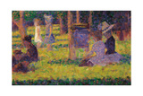 Study for a Sunday Afternoon on the Island of La Grande Jatte Impressão giclée por Georges Seurat