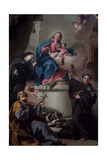 Madonna and Child with Saints Joseph Giclée-tryk af Giambattista Pittoni