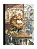 A New Leaf - The New Yorker Cover, April 7, 2014 Premium Giclee Print by Peter de Sève