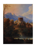 Landscape with the Zebedee Sons Calling Giclee Print by Giuseppe Roncelli