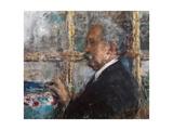 Portrait of Giuseppe Casciaro Giclee Print by Antonio Mancini