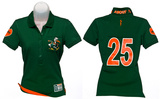 Juniors: Miami Hurricanes - Collar Scholar Polo Shirt T-Shirt